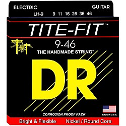 DR Strings Tite-Fit LH-9 Lite-n-Heavy Nickel Plated Electric Guitar Strings (LH-9)