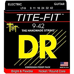 DR Strings Tite-Fit LT-9 Lite-n-Tite Nickel Plated Electric Guitar Strings (LT-9)
