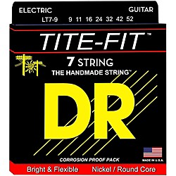DR Strings Tite-Fit LT7-9 Lite 7-String Nickel Plated Electric Guitar Strings (LT7-9-105248)