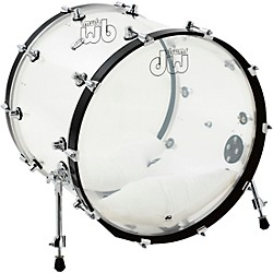 DW Design Series Acrylic Bass Drum with Chrome Hardware (DDAC1822KKCL)