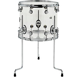 DW Design Series Acrylic Floor Tom with Chrome Hardware (DDAC1214TTCL)