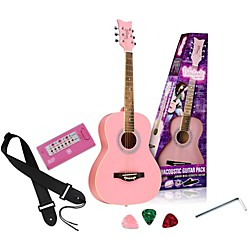 Daisy Rock Debutante Junior Miss Acoustic Guitar Pack (14-7210)