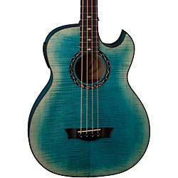 Dean Exhibition Flame Maple Acoustic-Electric Bass with Aphex (EXB FM FD)