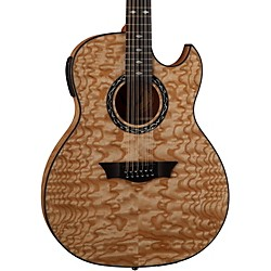 Dean Exhibition Quilt Ash 12-String Acoustic-Electric Guitar with Aphex (EXQA12 GN)