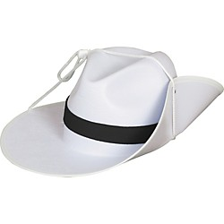 Director's Showcase White Aussie Hat with Colored Band (HTAUWHNBME)