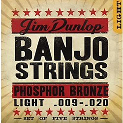 Dunlop 5-String Banjo Light Phosphor Bronze Strings (DJP0920)