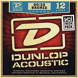 Dunlop 80/20 Bronze Light Acoustic Guitar Strings (DAB1254)