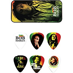 Dunlop Bob Marley Rasta Man Pick Tin with 6 Heavy Picks (BOB-PT02H)