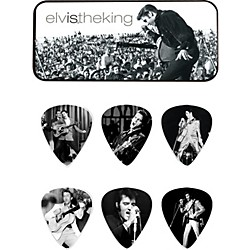 Dunlop Elvis the King Pick Tin with 6 Medium Picks (EPPT01)