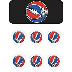 Dunlop Grateful Dead Steal Your Face Black Pick Tin with 6 Picks (GDPT03M)