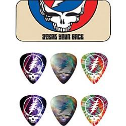Dunlop Grateful Dead Steal Your Face Tan Pick Tin with 6 Picks (GDPT04M)