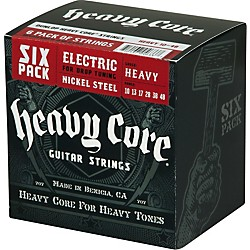 Dunlop Heavy Core Electric Guitar Strings Heavy 6-Pack (6CDHCN1048)