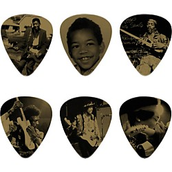 Dunlop Jimi Hendrix West Coast Seattle Boy Pick Tin with 6 Heavy Picks (JH-PT10H)