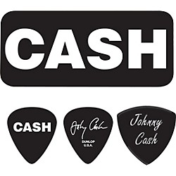 Dunlop Johnny Cash Bold Pick Tin with 6 Picks (JCPT04H)