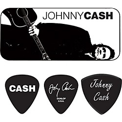Dunlop Johnny Cash Legend Pick Tin with 6 Picks (JCPT02H)