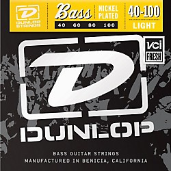Dunlop Nickel Plated Steel Bass Guitar Strings - Light (DBN40100)