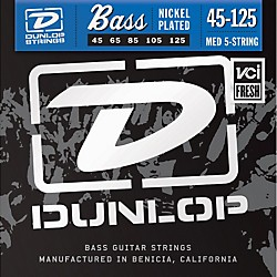 Dunlop Nickel Plated Steel Bass Strings - Medium 5-String (DBN45125)