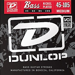Dunlop Nickel Plated Steel Bass Strings - Medium (DBN45105)
