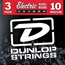 Dunlop Nickel Plated Steel Electric Guitar Strings Medium 3-Pack (3PDEN1046)