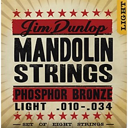 Dunlop Phospher Bronze 8-String Mandolin Set Light (DMP1034)