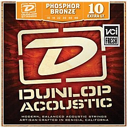 Dunlop Phosphor Bronze Extra Light Acoustic Guitar Strings (DAP1048)