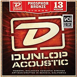 Dunlop Phosphor Bronze Medium Acoustic Guitar Strings (DAP1356)