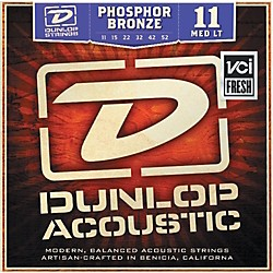 Dunlop Phosphor Bronze Medium Light Acoustic Guitar Strings (DAP1152)