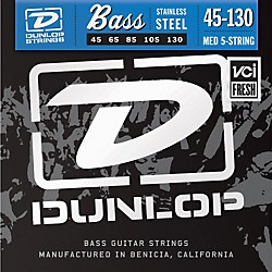 Dunlop Stainless Steel Bass Strings - Medium 5-String with 130 (DBS45130)