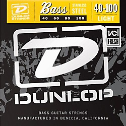 Dunlop Stainless Steel Light Bass Strings (DBS40100)