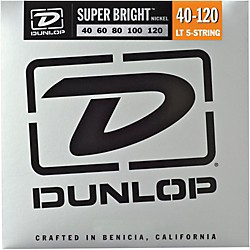 Dunlop Super Bright Nickel Light 5-String Bass Guitar Strings (DBSBN40120)