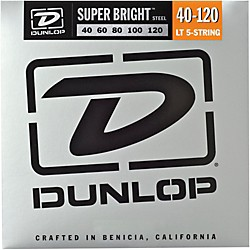 Dunlop Super Bright Steel Light 5-String Bass Guitar Strings (DBSBS40120)