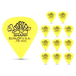Dunlop Tortex Sharp Guitar Picks 1 Dozen (412P073)