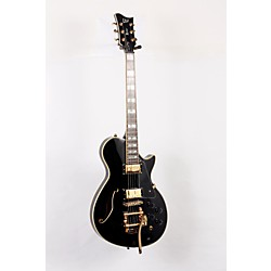 ESP LTD Xtone PC-1V Semi-Hollow Electric Guitar with Bigsby (USED005002 XPC1VBLK)