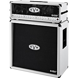 EVH 5150 III 100W Guitar Tube Head Ivory with 5150 III 412 Guitar Cab Ivory (51501_5150I)