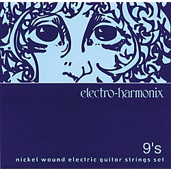 Electro-Harmonix NIC9 Nickel Wound Ultra Light Electric Guitar Strings (NIC9)