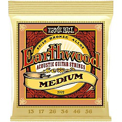 Ernie Ball 2002 Earthwood 80/20 Bronze Medium Acoustic Guitar Strings (P02002)