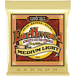 Ernie Ball 2003 Earthwood 80/20 Bronze Medium Light Acoustic Strings (P02003)