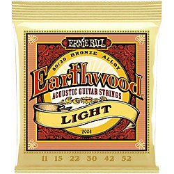Ernie Ball 2004 Earthwood 80/20 Bronze Light Acoustic Guitar Strings (P02004)