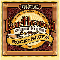 Ernie Ball 2008 Earthwood 80/20 Bronze Rock and Blues Acoustic Guitar Strings (P02008)