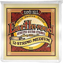 Ernie Ball 2012 Earthwood 80/20 Bronze 12-String Medium Acoustic Guitar Strings (P02012)