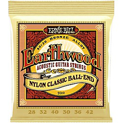 Ernie Ball 2069 Earthwood 80/20 Bronze Folk Nylon Ball End Acoustic Guitar Strings (P02069)