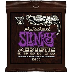 Ernie Ball 2144 Power Slinky Phosphor Bronze Acoustic Guitar Strings (P02144)