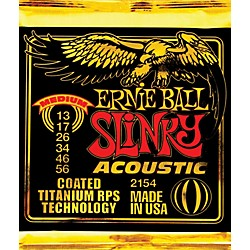 Ernie Ball 2154 Coated Slinky Medium Acoustic Guitar Strings (2154)