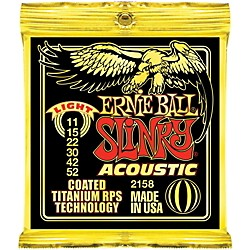 Ernie Ball 2158 Coated Light Slinky Acoustic Guitar Strings (2158)