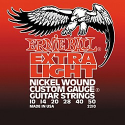 Ernie Ball 2210 Slinky Nickel Wound Extra Light Electric Guitar Strings (P02210)