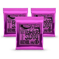 Ernie Ball 2220 Power Slinky Nickel Round Wound Electric Guitar Strings 3 Pack (KIT 2220 - 3 Pk)