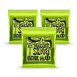 Ernie Ball 2221 Nickel Regular Slinky Electric Guitar Strings 3 Pack (KIT 2221 - 3 Pk)