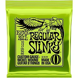 Ernie Ball 2221 Nickel Regular Slinky Electric Guitar Strings (P02221)