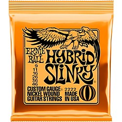 Ernie Ball 2222 Nickel Hybrid Slinky Electric Guitar Strings (P02222)