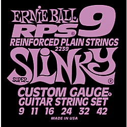 Ernie Ball 2239 Super Slinky RPS 9 Electric Guitar Strings (P002239)